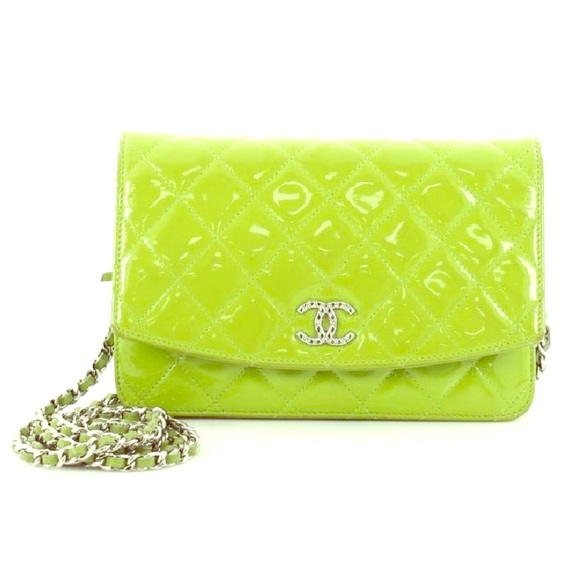 5fc6b7b10c3c1b CHANEL Bags | Authentic Brilliant Wallet On Chain Quilted Patent ...